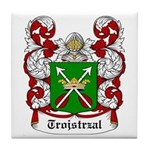 Trojstrzal Coat of Arms Tile Coaster
