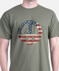 Vintage Peace In America T-Shirt