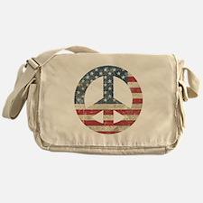 Vintage Peace In America Messenger Bag