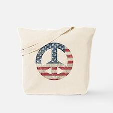 Vintage Peace In America Tote Bag
