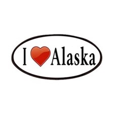 I Love Alaska Patches