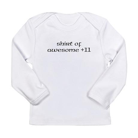 Awesome +11 Long Sleeve Infant T-Shirt
