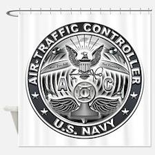 USN Air-Traffic Controller Eagle Rate Shower Curta