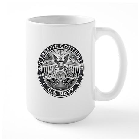 USN Air-Traffic Controller Eagle Rate Large Mug