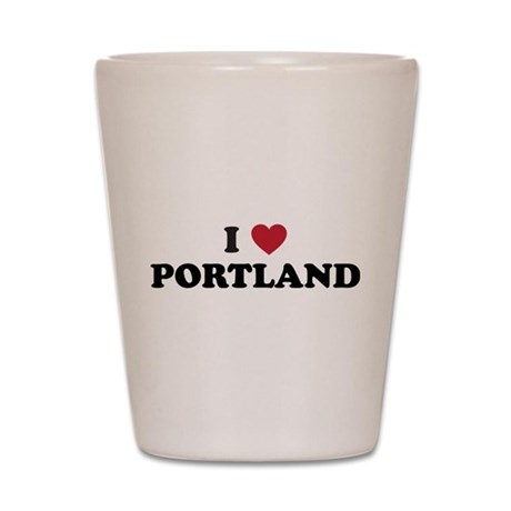 I Love Portland Shot Glass
