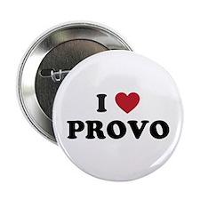 """I Love Provo Utah 2.25"""" Button"""