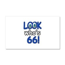 Look who's 66 Car Magnet 20 x 12