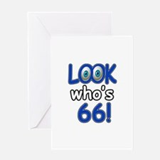 Look who's 66 Greeting Card