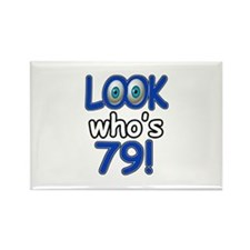 Look who's 79 Rectangle Magnet (100 pack)