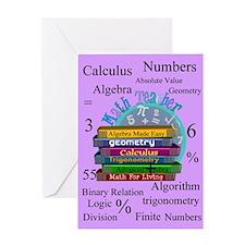 Math teacher cases.PNG Greeting Card