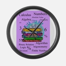 Math teacher cases.PNG Large Wall Clock