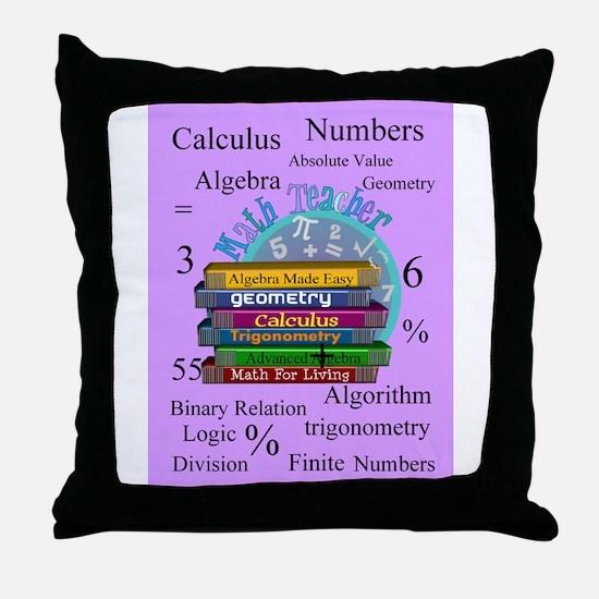 Math teacher cases.PNG Throw Pillow