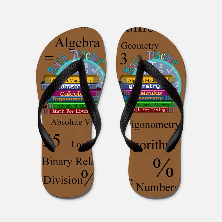 Math Teacher 4.PNG Flip Flops