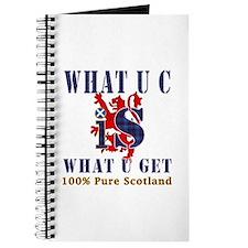 100 percent pure Scotland fun design Journal
