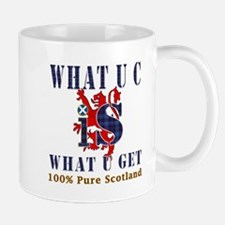 100 percent pure Scotland fun design Mug