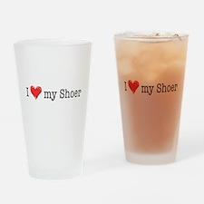 Love My Shoer Drinking Glass