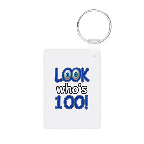 Look who's 100 Aluminum Photo Keychain