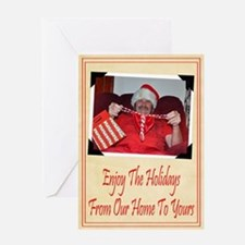Happy Holidays Our Home To Yours Greeting Card