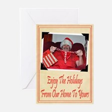 Happy Holidays Our Home Greeting Cards (Pk of 10)