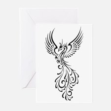 black-phoenix-bird.png Greeting Cards (Pk of 20)