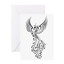 black-phoenix-bird.png Greeting Card