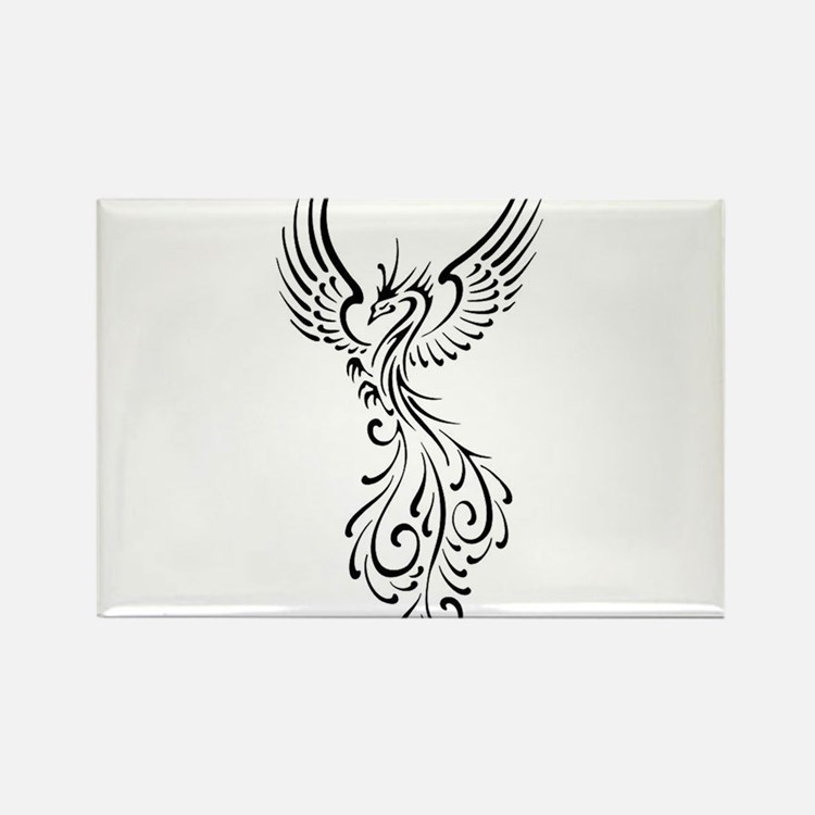 black-phoenix-bird.png Rectangle Magnet