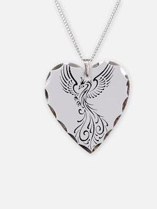 black-phoenix-bird.png Necklace