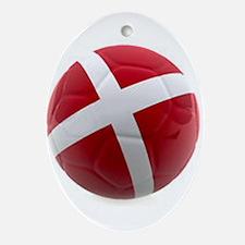 Denmark world cup ball Ornament (Oval)
