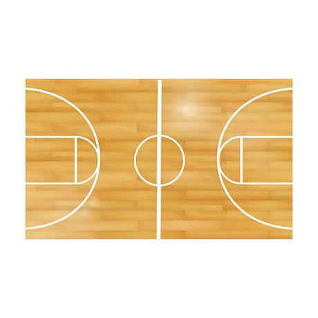 Basketball Court 35x21 Wall Decal