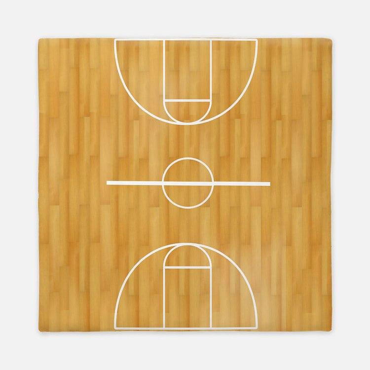 Basketball Court Queen Duvet