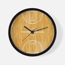 Basketball Court Wall Clock