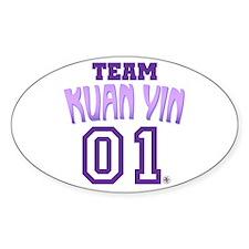 Team Kuan Yin Oval Decal
