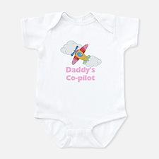 Daddy's Co-pilot Girl's Baby Bodysuit
