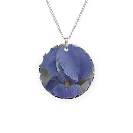 Iris Necklace Circle Charm