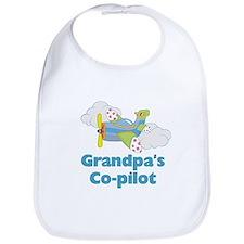 Grandpa's Co-pilot Boy's Bib