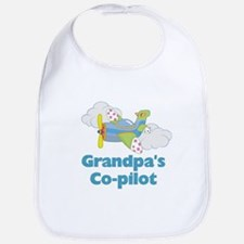 Grandpa's Co-pilot Boy's Bib