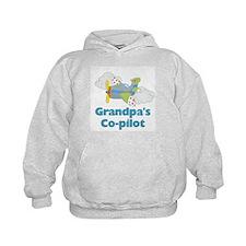 Grandpa's Co-pilot Boy's Hoodie