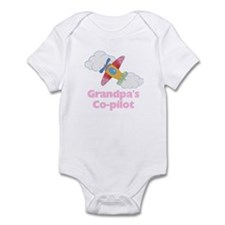 Grandpa's Co-pilot Girl Baby Bodysuit