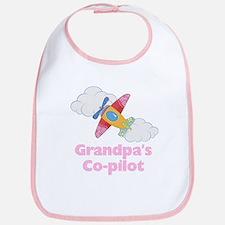 Grandpa's Co-pilot Girl Bib