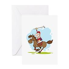 Horse Polo Greeting Card