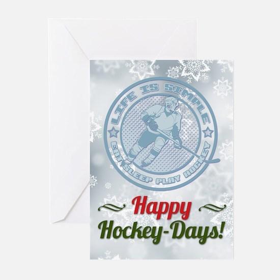 Eat, Sleep, Play Hockey Holiday (pk Greeting Cards