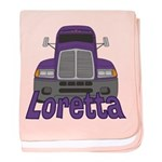 Trucker Loretta baby blanket