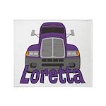 Trucker Loretta Throw Blanket