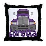 Trucker Loretta Throw Pillow