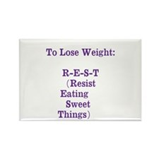 lose weight Rectangle Magnet