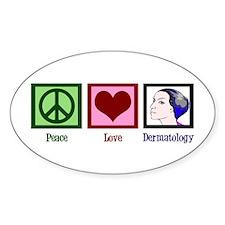 Peace Love Dermatology Decal