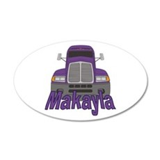 Trucker Makayla 20x12 Oval Wall Decal
