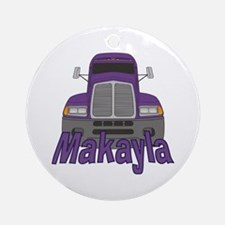 Trucker Makayla Ornament (Round)
