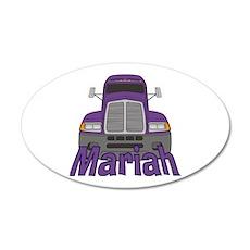 Trucker Mariah 35x21 Oval Wall Decal