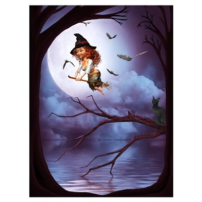 Little Witch 1 Wall Art Poster
